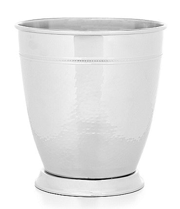 Image of Southern Living Nickel-Plated Brass Wastebasket