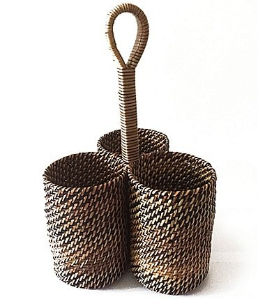 Image of Southern Living Nito Woven Utensil Caddy