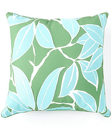 Image of Southern Living Outdoor Living Collection Victoria Embroidered Floral Indoor/Outdoor Pillow