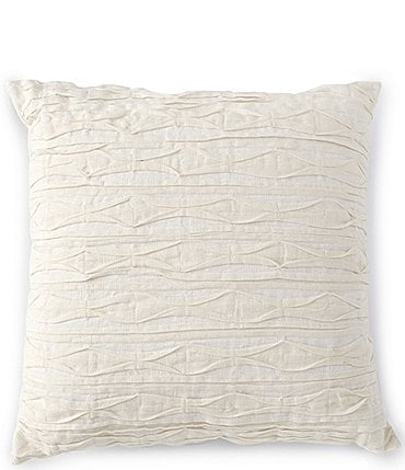 Image of Southern Living Pin Tuck Linen Square Pillow