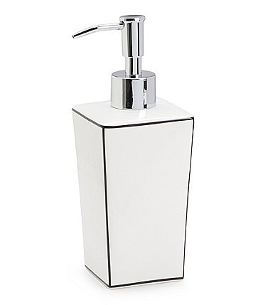 Image of Southern Living Raleigh Porcelain & Stainless Steel Lotion Dispenser