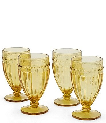 Image of Southern Living 4-Piece Ribbed Footed Iced Beverage Glass Set