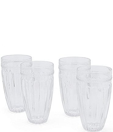 Image of Southern Living Ribbed Highball Glasses Set of 4