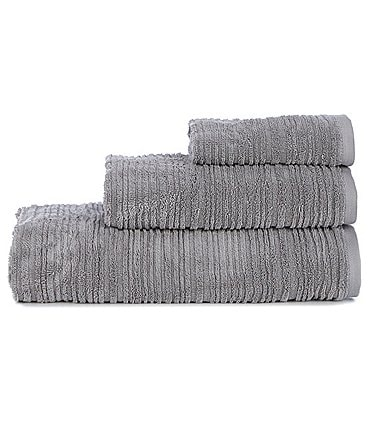 Image of Southern Living Ribbed Stripe Bath Towels