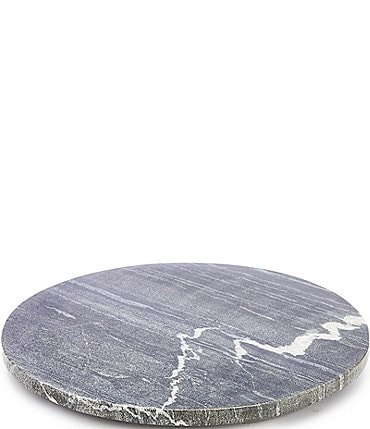 Image of Southern Living Spring Collection Round Marble Cheese Board with Resin Feet