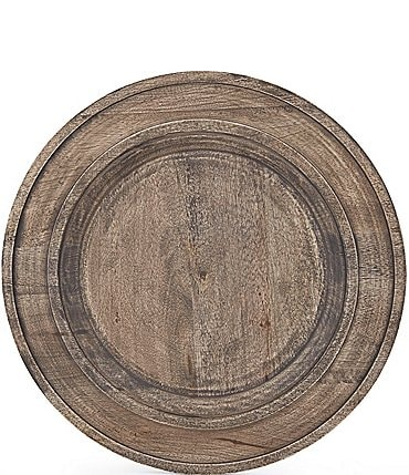 Image of Southern Living Festive Fall New Nostalgia Rustic Mango Wood Charger Plate