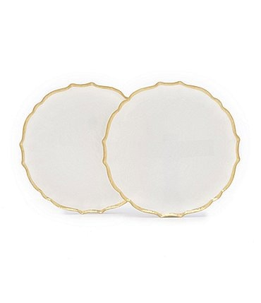 Image of Southern Living Spring Collection Scalloped Glass Accent Plates, Set of 2