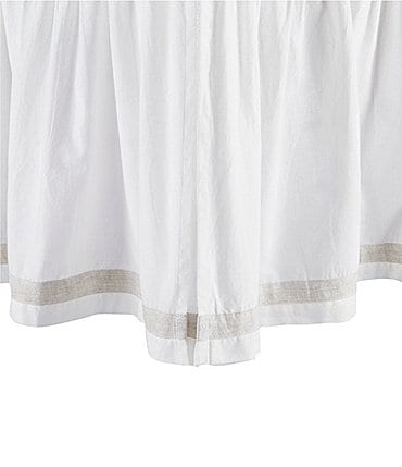 Image of Southern Living Simplicity Collection Addison White Ruffled Bed Skirt