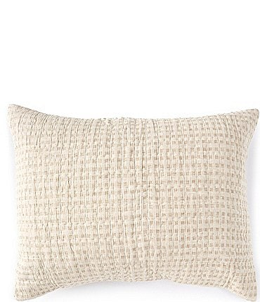 Image of Southern Living Simplicity Collection Fraser Linen & Cotton Woven Check Sham