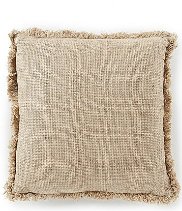 Image of Southern Living Simplicity Collection Fray Trim Square Pillow