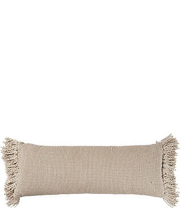 Image of Southern Living Simplicity Collection Fringe Bolster Pillow