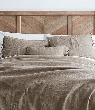 Image of Southern Living Simplicity Collection Garrison Washed Linen & Cotton Duvet