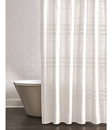 Image of Southern Living Simplicity Collection Hudson Stripe Shower Curtain