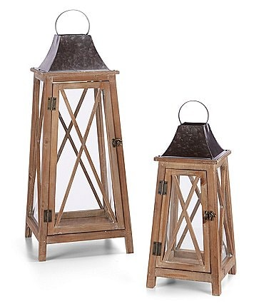 Image of Southern Living Spring Collection Wooden Lantern