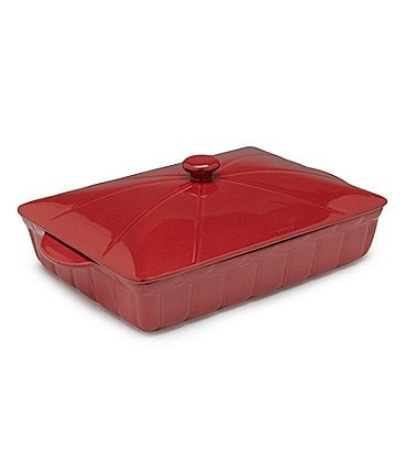 Image of Southern Living Stoneware Rectangular Baker with Lid