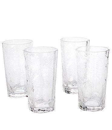Image of Southern Living Textured Highball Glasses, Set of 4