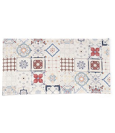 Image of Southern Living Kitchen Solution Collection Tile Print Kitchen Mat