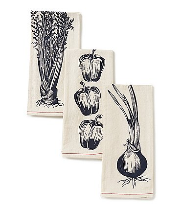 Image of Southern Living 3-Piece Trinity Vegetable Kitchen Towel Set