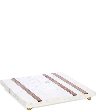 Image of Southern Living White Marble & Acacia Wood Square Trivet