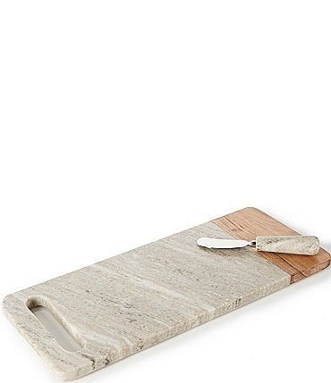 Image of Southern Living Marble Handle Cheese Board with Knife