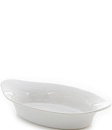 Image of Southern Living White Oval Baker with Handles