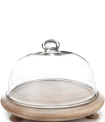 Image of Southern Living Wooden Cheese Board with Cloche