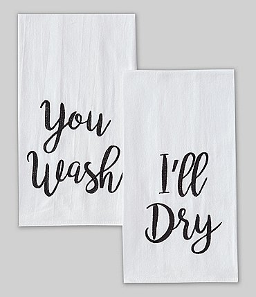 Image of Southern Living You Wash I'll Dry Kitchen Towels, Set of 2