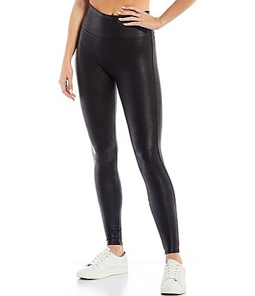 Image of Spanx Faux-Leather Leggings