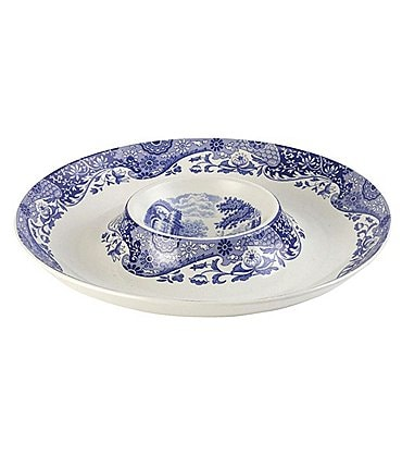 Image of Spode Blue Italian Chip and Dip Server