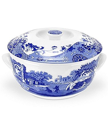 Image of Spode Blue Italian Covered Deep Baker