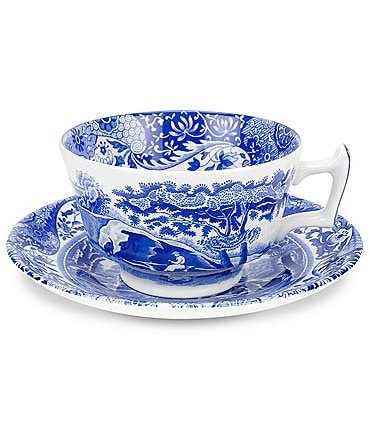Image of Spode Blue Italian Cup & Saucer Set