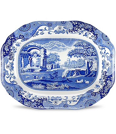 Image of Spode Blue Italian Medium Oval Platter