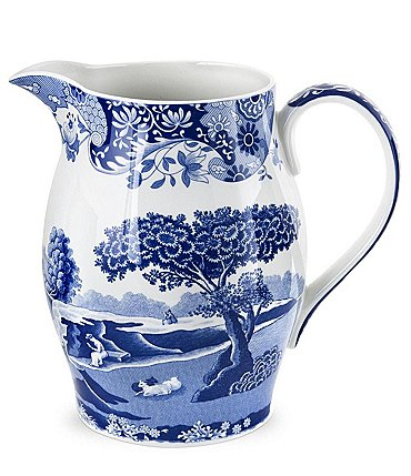 Image of Spode Blue Italian Pitcher