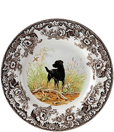 Image of Spode Festive Fall Collection Woodland Hunting Dogs Salad Plate
