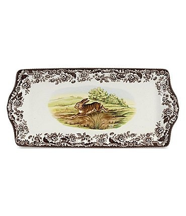 Image of Spode Festive Fall Collection Woodland Rabbit Sandwich Tray