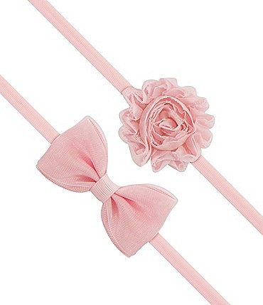 Image of Starting Out 2-Pack Bow & Flower Headband