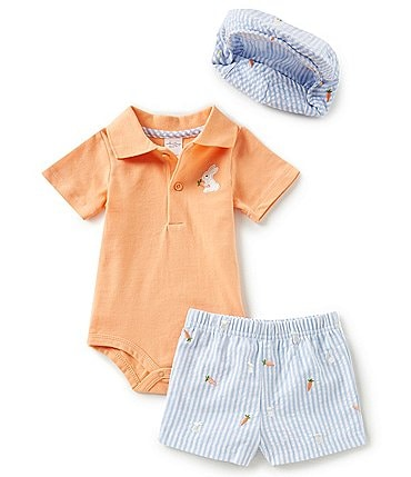 Image of Starting Out Baby Boy Newborn-9 Months Bunny 3-Piece Layette Set