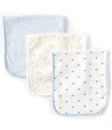 Image of Starting Out Baby Boys Elephant 3-Pack Burp Cloths