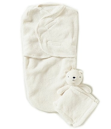 Image of Starting Out Baby Fleece Swaddle & Blanket Buddy Set