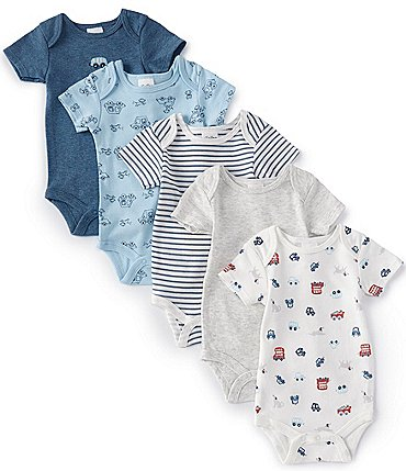 Image of Starting Out Baby Boys Newborn-6 Months Busy Town 5-Pack Bodysuits