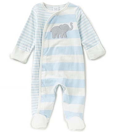 Image of Starting Out Baby Boys Newborn-6 Months Elephant-Applique Footed Coverall