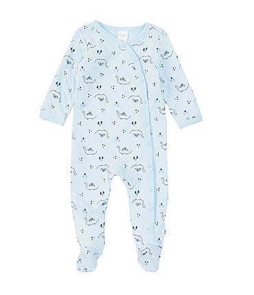 Image of Starting Out Baby Boys Newborn-6 Months Long-Sleeve Dino Quilted Footed Coverall