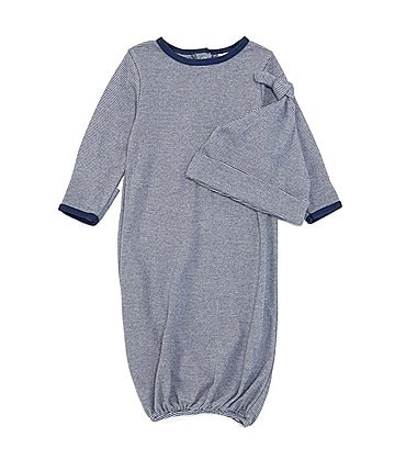 Image of Starting Out Baby Boys Newborn-6 Months Long-Sleeve Stripe Nightgown