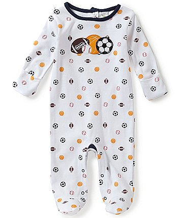 Image of Starting Out Baby Boys Newborn-6 Months Sports Footed Coverall