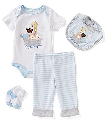 Image of Starting Out Baby Boys Newborn-9 Months Animal Ark 4-Piece Layette Set