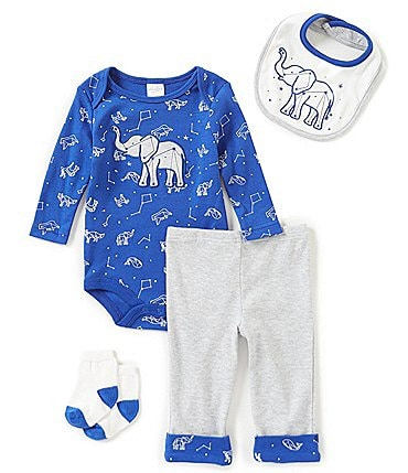 Image of Starting Out Baby Boys Newborn-9 Months Elephant Constellation 4-Piece Layette Set