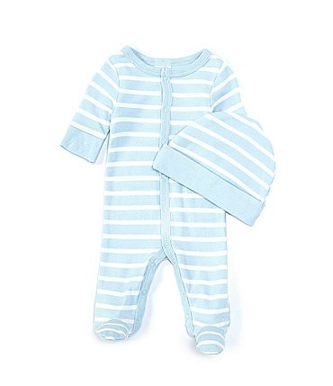 Image of Starting Out Baby Boys Preemie-6 Months Long-Sleeve Stripe Footed Coverall