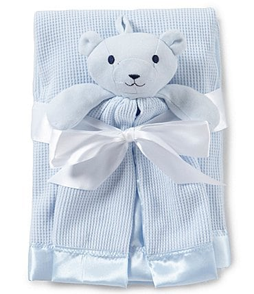 Image of Starting Out Baby Boys Satin Trim Blanket & Buddy