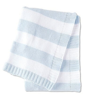 Image of Starting Out Baby Boys Striped Chenille Blanket