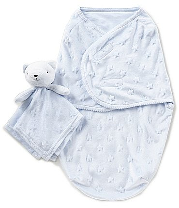 Image of Starting Out Baby Boys Swaddle Blanket & Blanket Buddy Set